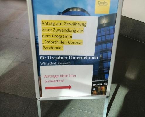 Antrag Corona Soforthilfe; Virtual Office Dresden