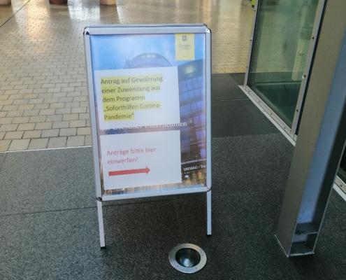 Auf dem Weg zur Corona Antrag Abgabe; Virtual Office Dresden